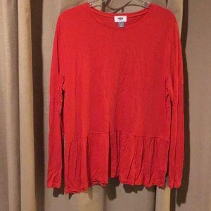 Peplum long sleeve shirt